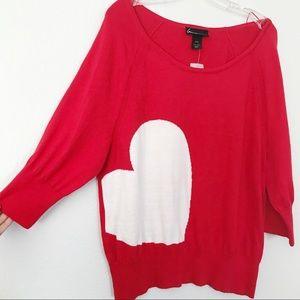 New! Lane Bryant heart 3/4 sleeve sweater
